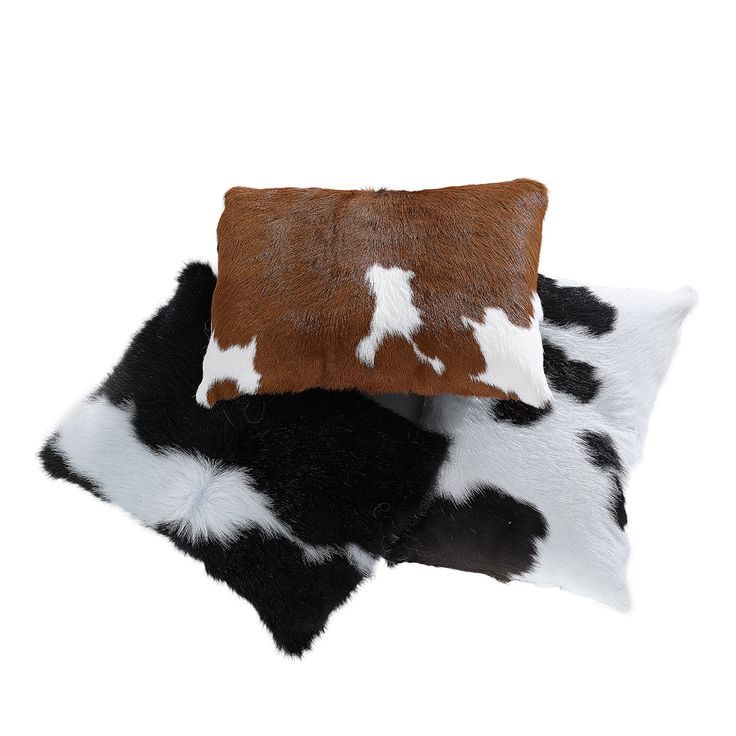 Calf skin cushions, buy 1, 2, 3 or more these can be combined with so many colours and styles to really add something natural and textural to your living space.  (http://www.classicsheepskins.com/calf-skin-cushions/)