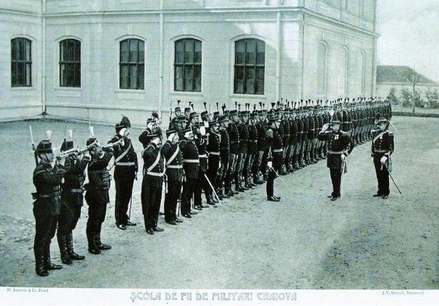 CRAIOVA - SCOALA FIILOR DE MILITARI , 1902