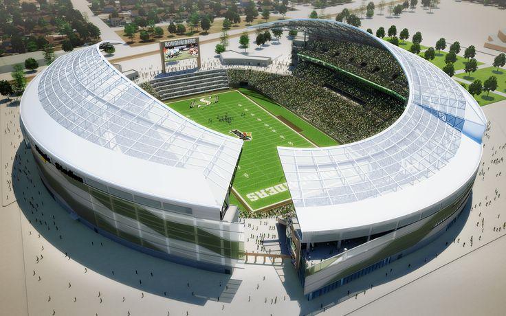 Mosaic Stadium, Regina, Canada, 3d project, Saskatchewan Roughriders, open-air stadium, Canadian Football League, CFL