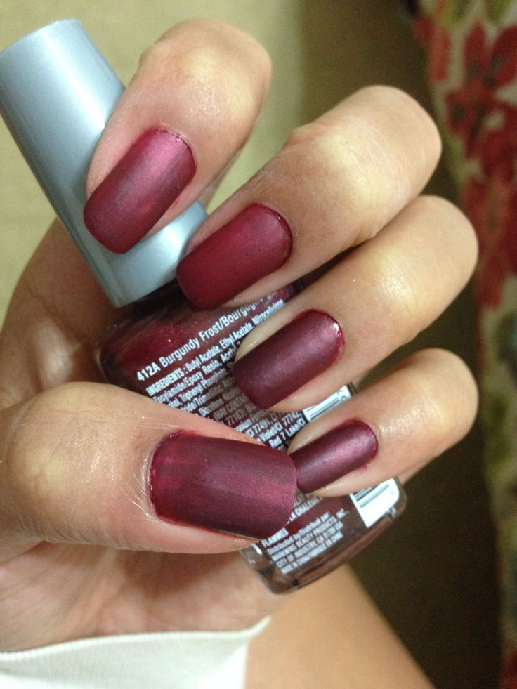 Burgundy Matte Stiletto Nails With Glossy Tips: 17 Best Ideas About Burgundy Matte Nails On Pinterest