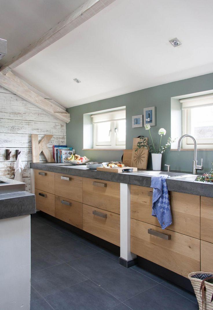 Afbeeldingsresultaat voor industriele houten keukens
