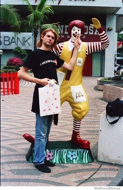 Cobain goes fast food