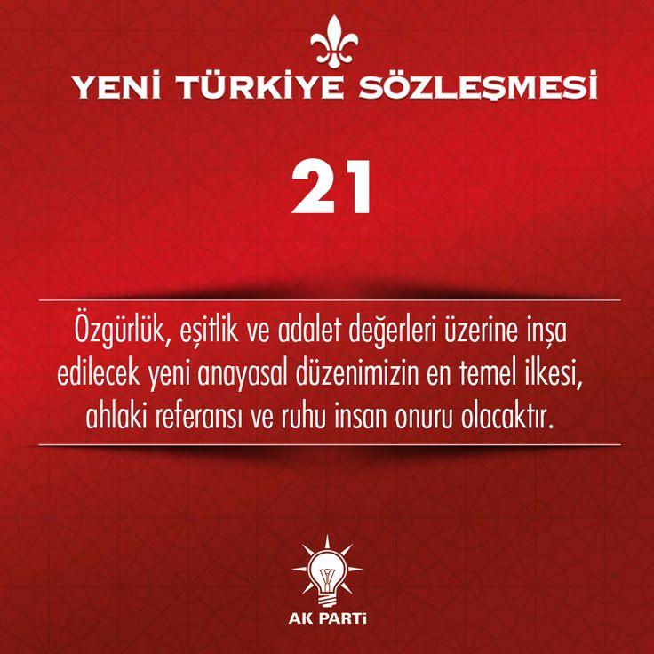 21.Madde, #YeniTürkiyeSözleşmesi