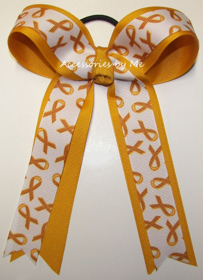 Childhood Cancer Awareness Ponytail Holder Cheer Bow – Accessories by Me