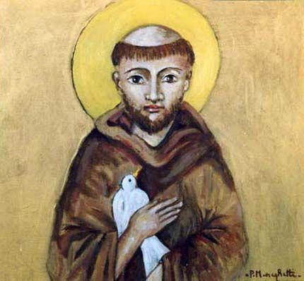 San Francesco - olio su tela (25x25 cm)
