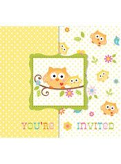 Owl Baby Shower Invitations 8ct
