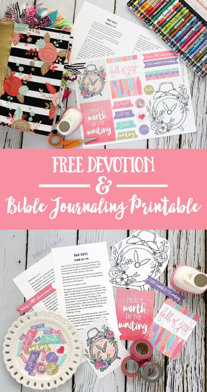 """Free """"Two Days"""" Devotion + Bible Journaling Printable   Perfect freebies for illustrating your faith and being creative in the margins of your Bible! pitterandglink.com"""