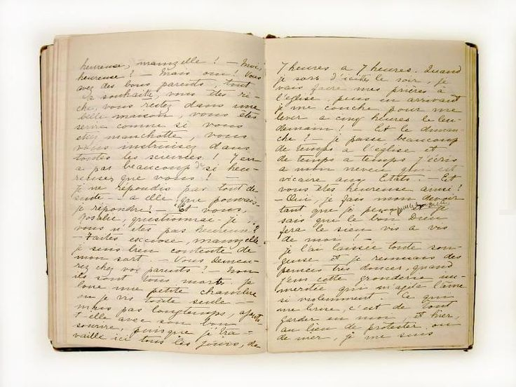 The journal of Henriette Dessaules (example of a 19th Century diary). Photo: McCord Museum (image is in the Public Domain).