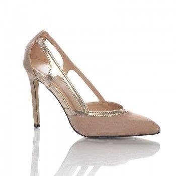 Pantofi Tosca - Bej Acesti pantofi moderni si feminini sunt ideali pentru sezonul estival, avand un design foarte inedit si aerisit. Lasa-ti picioarele sa se bucure de vara cu acesti pantofi comozi si usori, cu toc de numai 10 cm. Puteti purta pantofii Tosca la o fusta din in bej, pana la genunchi, si o camasa din in alba.