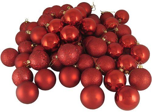 16 Christmas Ornaments by Gordon Companies, Inc. $48.00. Please refer to SKU# ATR25773734 when you inquire.. This product may be prohibited inbound shipment to your destination.. Brand Name: Gordon Companies, Inc Mfg#: 30708006. Picture may wrongfully represent. Please read title and description thoroughly.. Shipping Weight: 2.00 lbs. 16 Christmas ornaments/red/4 finish/shatterproof/gold caps/come with hangers/3'' dia./made of plastic and glitter
