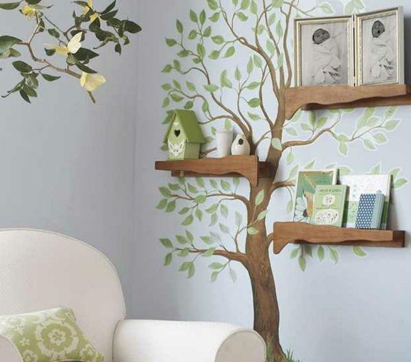 Babyzimmer wände gestalten malen motiv vorlagen  Die besten 25+ Wald babyzimmer Ideen auf Pinterest ...