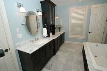 Good example of counter and cabinet configuration luxury for Bathroom configurations