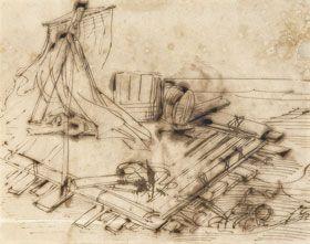 """Le radeau de la méduse et l'île d'Aix :  """"La Méduse, frégate partie de la rade d'Aix le 17 juin 1816 pour prendre possession de Saint-Louis du Sénégal cédé par les Anglais, est commandée par un « rentrant », un officier d'Ancien Régime qui n'a pas assumé de commandement depuis 26 ans, Hugues Duroy de Chaumareys. Le 2 juillet, le navire s'échoue sur le banc d'Arguin au large de la Mauritanie ..."""" (Etude préparatoire pour le tableau de Géricault)"""