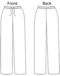 Plain drawstring waist pants. In a lovely light cotton or linen these would be so much more than just lounge pants!