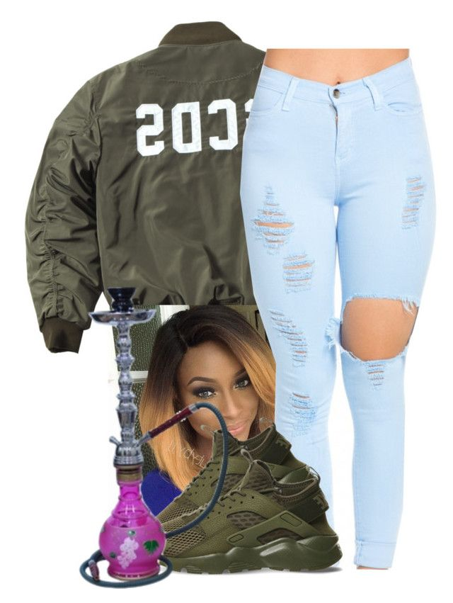"""."" by independentbxtchesonly ❤ liked on Polyvore featuring NIKE"
