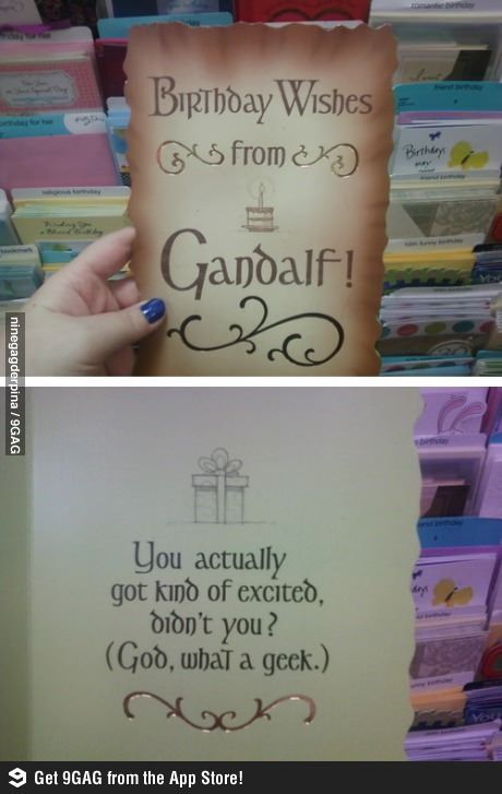 Gandalf trolling.. oh okay...