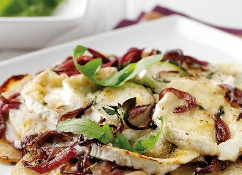 James Martin's Pan roasted Potato Tart with Goat's Cheese and Red ...
