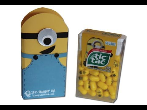 Minion Mania Gift Set Part I - Tic Tac Treats featuring Stampin Up
