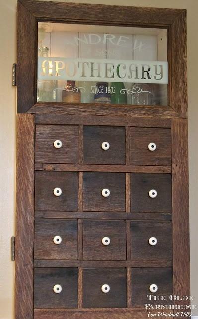 DIY::  Farmhouse Apothecary Medicine Cabinet Tutorial ! Frugal & Easy Project !