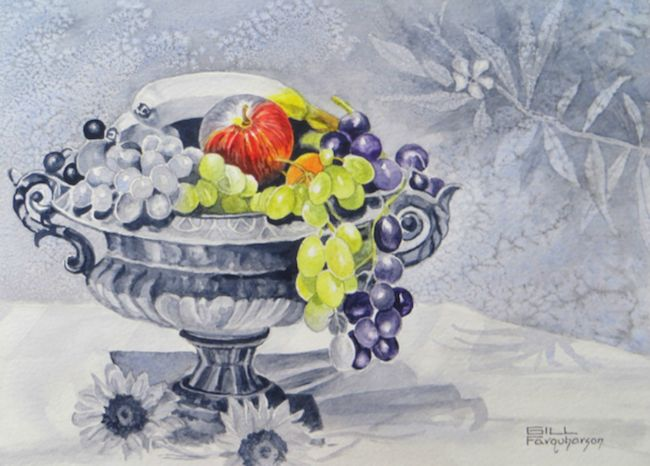 February 2017 ArtTutor Challenge Winner - Fruit Bowl by Gill Farquharson