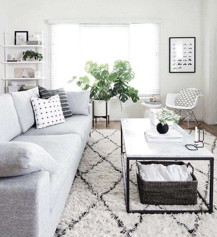 Grijze & witte woonkamer #sweet home