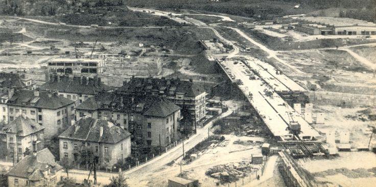 Kačerov - rozestavěná dálnice od Kačerova ke Spořilovu - Květy 3.6.1972. č.22
