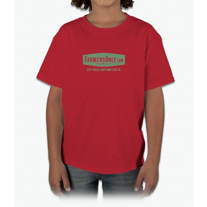 Farmers Only (green logo) Young T-Shirt