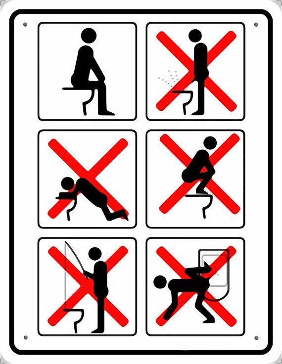 Signs Bathroom art Wall decor Toilet от SovietPoster на Etsy