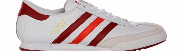 Adidas Beckenbauer Allround White/Red Leather Adidas Beckenbauer Allround White/Red Leather Trainers Colourway