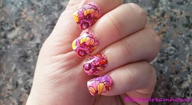 Check out my next nail design .. Jump in to spring Head over to my blog to find ...