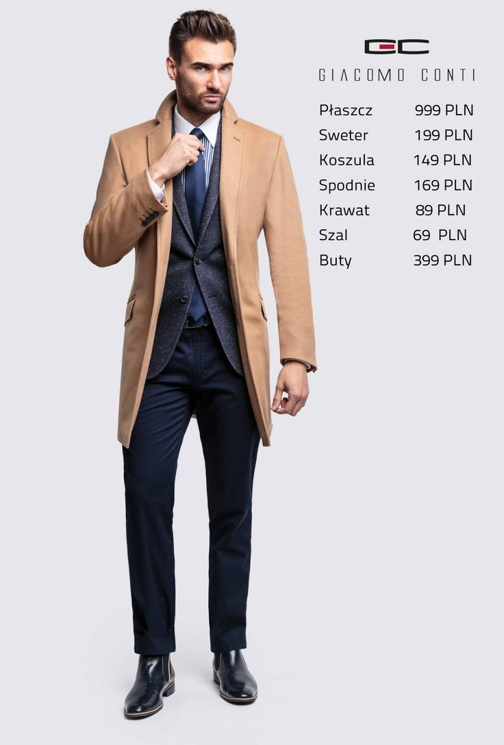 Stylizacja Giacomo Conti: płaszcz Casimiro 14/72 WK, spodnie Armando 14/45 T, koszula Armando slim 14/08/14, marynarka Damiano 14/63 SM #giacomoconti