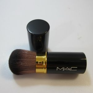 attractive mac black single brush with brown fur