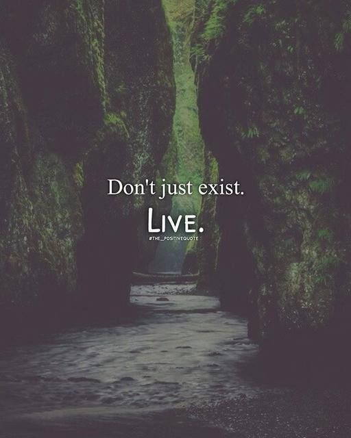 Don't just exist live.
