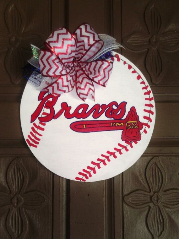 Check out this item in my Etsy shop https://www.etsy.com/listing/229360828/atlanta-braves-wooden-wall-door-hanger