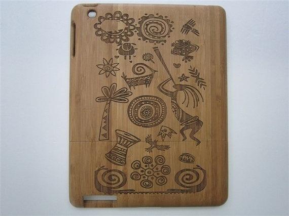Wood iPad Case  iPad 2 wood case  iPad2 case  cases by TWoodzing