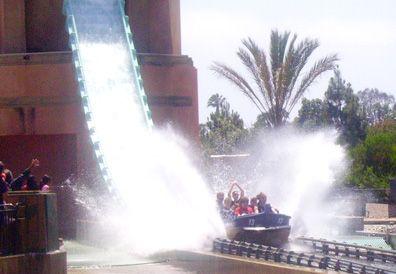 Journey to Atlantis ride Seaworld San Diego.