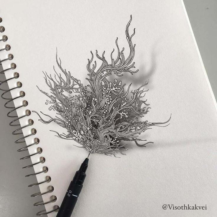 Les superbes doodles augmentés de Visothkakvei | Ufunk.net