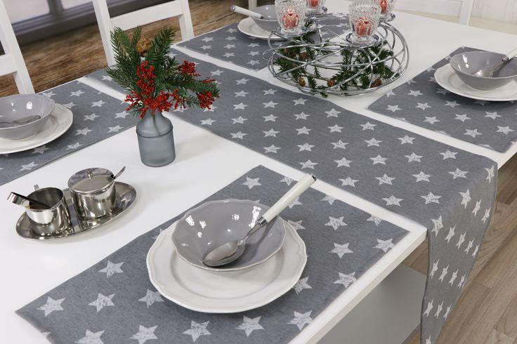 Trendige Tischdecke für die Weihnachtsdeko. Tischdecken, Tischläufer und Platzsets sind abwaschbar. Kein Schmutz dringt in das Gewebe. Die Tischdecke ist Baumwolle/Polyester.
