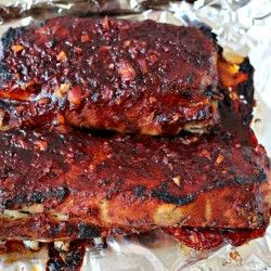 Pork Ribs with Bourbon Marinade... http://milk-and.blogspot.com.au/2013/01/pork-ribs-with-bourbon-marinade.html