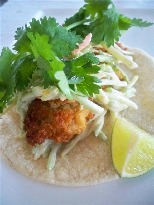 Fried Oyster Tacos. Chef Benny Doro pan fries fresh oysters then folds ...