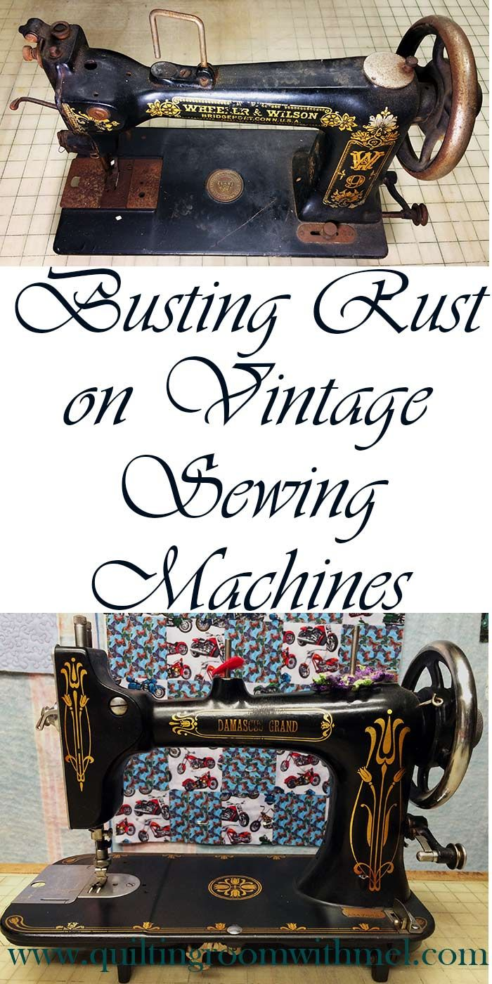 A little (or a lot) of rust doesn't have to mean the end of a vintage sewing machines life.  Learn how to get them back into running shape.