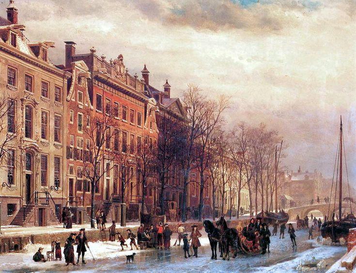 Cornelis Springer (1817-1891) - Amsterdamse gracht