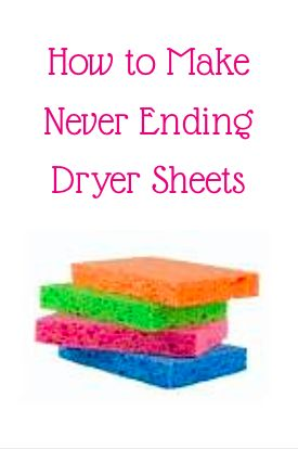 how to make never ending dryer sheets 1cup fabric softener 2cups water sponges cut in half. Black Bedroom Furniture Sets. Home Design Ideas