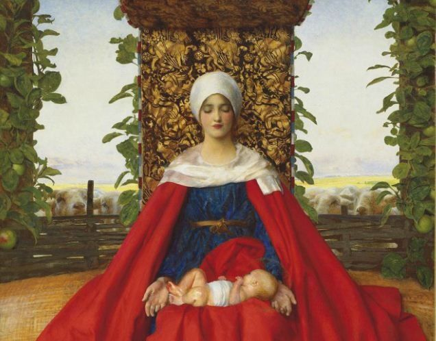 Ou lady of the First Fruits | Frank Cadgan Cowper: Our Lady of the Fruits of the Earth