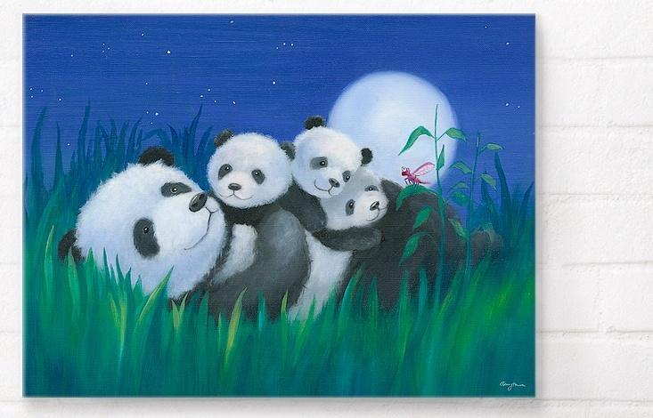 Happy Spaces - Panda Hugs by Genny Haines