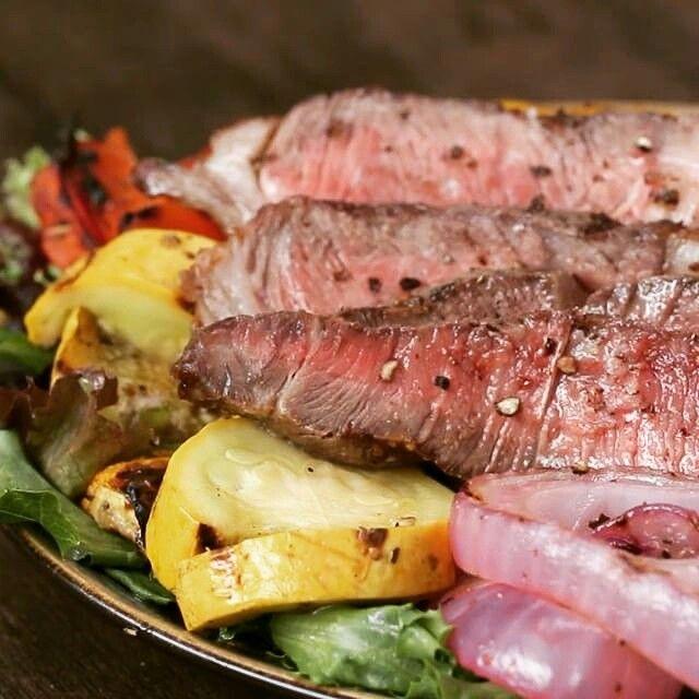 tasty steak and vegetables