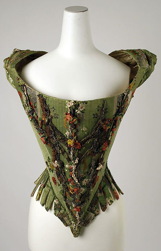Bodice, 18th century, European Medium: silk, metal thread (c) The Metropolitan Museum of Art