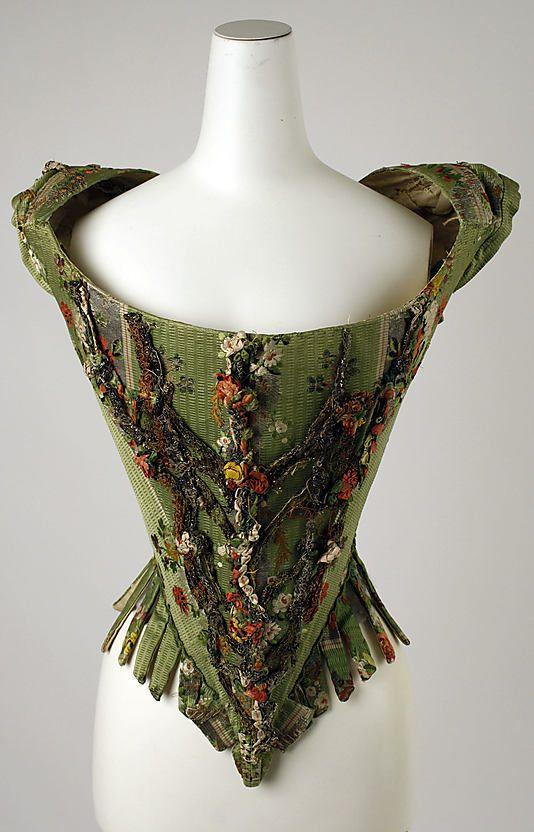 Bodice, 18th century, European Medium: silk, metal thread (c) The Metropolitan Museum of Art