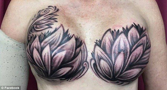 An image of a woman who covered her mastectomy scars with tattoos has been applauded online