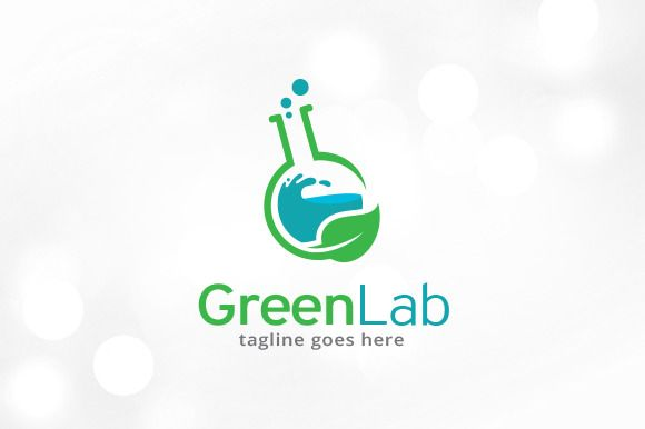 Green Lab Logo Template by gunaonedesign on @creativemarket